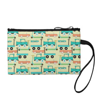 Summer Retro Wheels Scooters Cars Wagons Trucks Coin Wallet