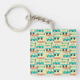 Summer Retro Wheels Scooters Cars Wagons Trucks Keychain