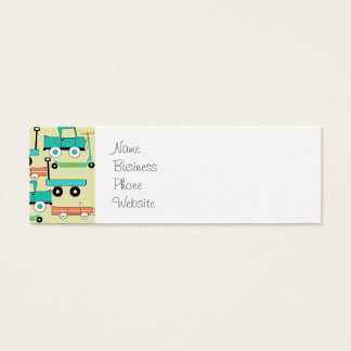 Summer Retro Wheels Scooters Cars Wagons Trucks Mini Business Card