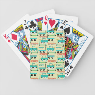 Summer Retro Wheels Scooters Cars Wagons Trucks Bicycle Poker Cards