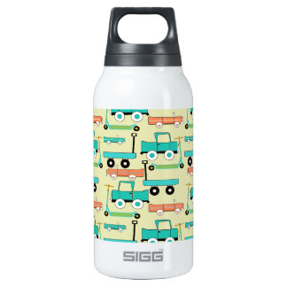Summer Retro Wheels Scooters Cars Wagons Trucks Thermos Water Bottle