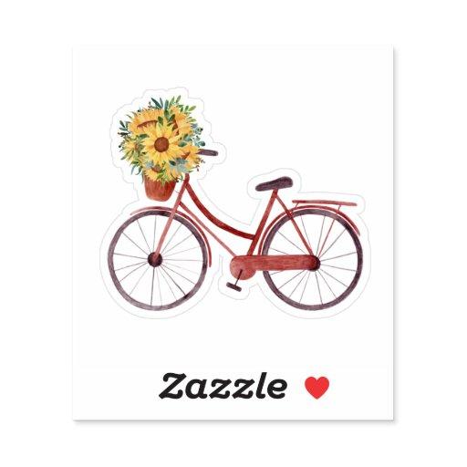 Summer Ride vintage Bicycle  Sticker