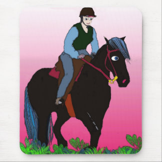 Summer Ride-Whimsical Horse Collection Mouse Pad