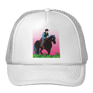 Summer Ride-Whimsical Horse Collection Trucker Hat