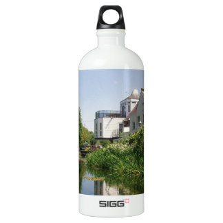 Summer River and Clouds Scenery Water Bottle