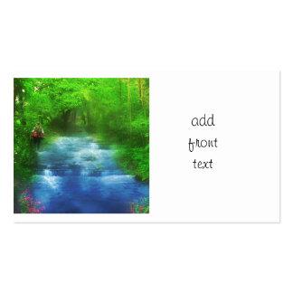 Summer River Walk Hiker Business Card Template
