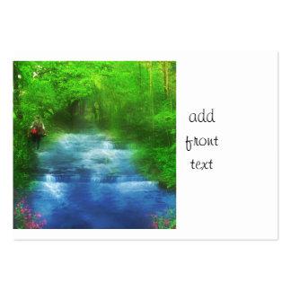 Summer River Walk Hiker Business Cards
