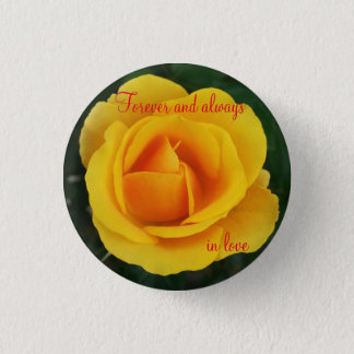 Summer rose pinback button