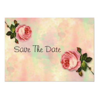 Summer Rose Save The Date Card