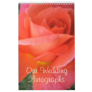 Summer Rose Wedding Calendar