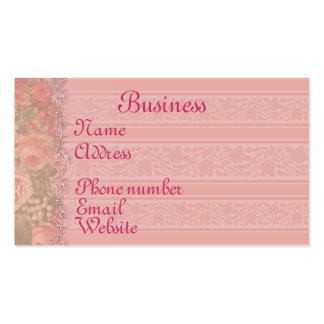 Summer Roses Double-Sided Standard Business Cards (Pack Of 100)