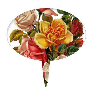 Summer Roses Cake Topper