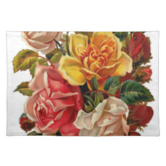 Summer Roses Cloth Placemat