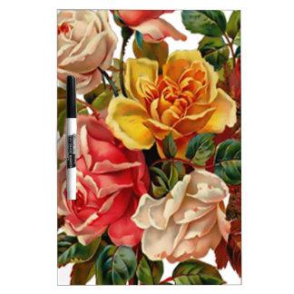 Summer Roses Dry-Erase Boards