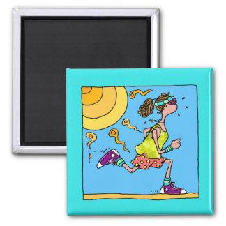 summer runner (woman) magnet
