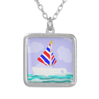 Summer Sailboat Necklace