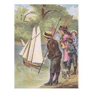Summer Sailboat Races at the Lake Postcard
