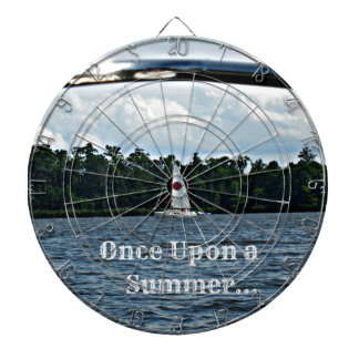 Summer sailboat scene with message. dartboard