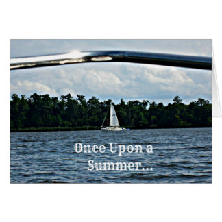 Summer sailboat scene with message. greeting cards