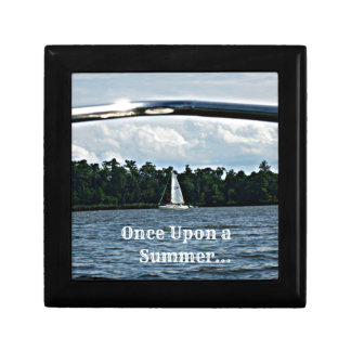 Summer sailboat scene with message. jewelry box
