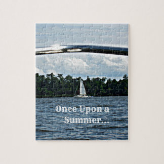 Summer sailboat scene with message. jigsaw puzzle