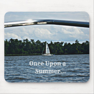 Summer sailboat scene with message. mouse pad