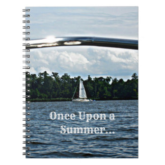 Summer sailboat scene with message. spiral notebooks