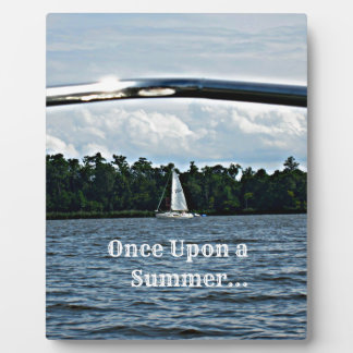 Summer sailboat scene with message. plaque