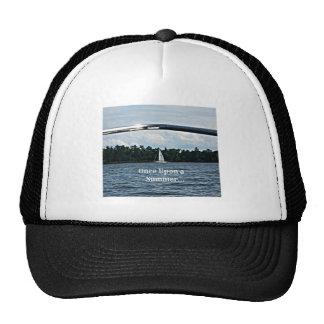 Summer sailboat scene with message. trucker hat