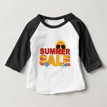 Beach Themed Summer Sale Beach Theme Banner Illustration Baby T-Shirt