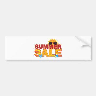 Summer Sale Beach Theme Banner Illustration Bumper Sticker