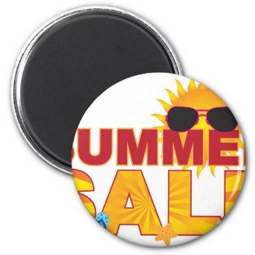 Summer Sale Beach Theme Banner Illustration Magnet