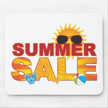 Summer Sale Beach Theme Banner Illustration Mouse Pad
