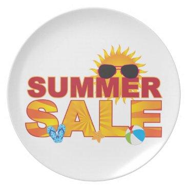 Summer Sale Beach Theme Banner Illustration Plate