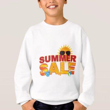 Beach Themed Summer Sale Beach Theme Banner Illustration Sweatshirt