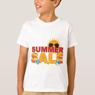 Beach Themed Summer Sale Beach Theme Banner Illustration T-Shirt