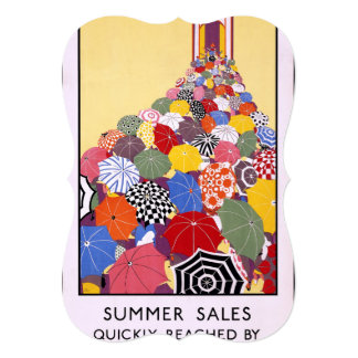 Summer sales quickly reached by Underground 5x7 Paper Invitation Card