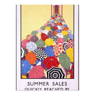 Summer sales quickly reached by Underground 5.5x7.5 Paper Invitation Card