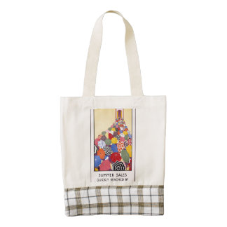 Summer sales quickly reached by Underground Zazzle HEART Tote Bag