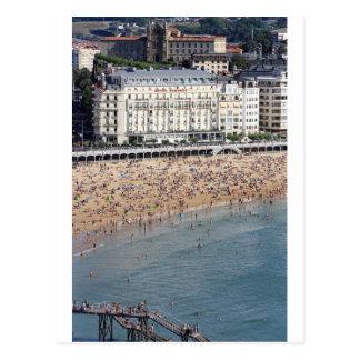 Summer San Sebastian beach Basque country Postcard