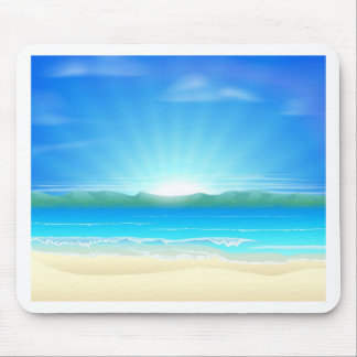 Summer sand beach background mouse pads