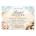 Summer Sandy Beach Starfish Seashell Bridal Shower Card