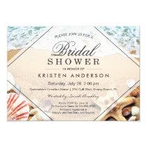 Summer Sandy Beach Starfish Seashell Bridal Shower Card