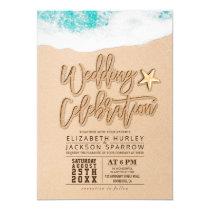Summer Sandy Beach Wedding Bridal Shower Starfish Card