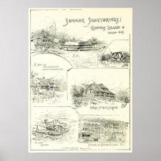 Summer Saunterings: Cushings Island Casco Bay 1886 Poster