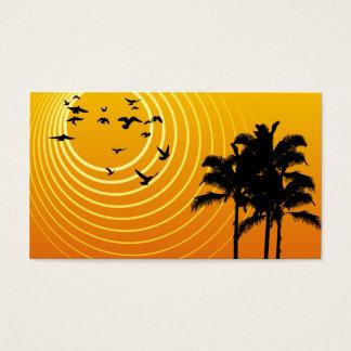 summer scene business card