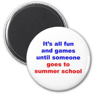 Summer School 2 Inch Round Magnet