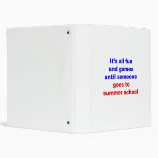 Summer School 3 Ring Binders