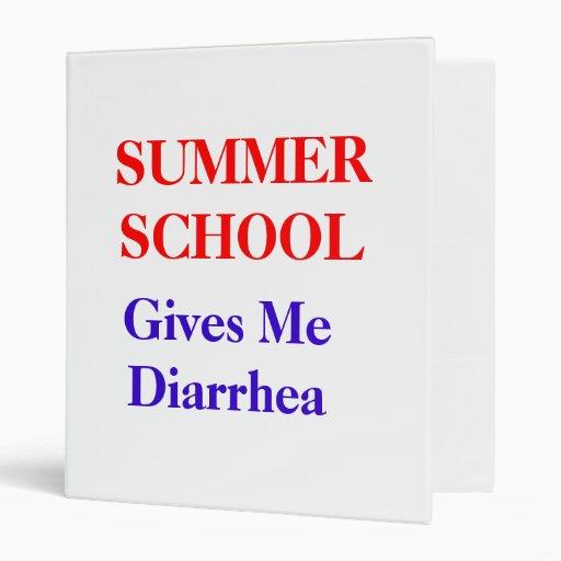 Summer School Diarrhea 3 Ring Binders