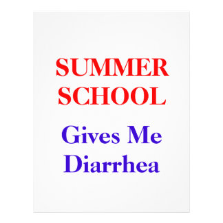 Summer School Diarrhea Flyer